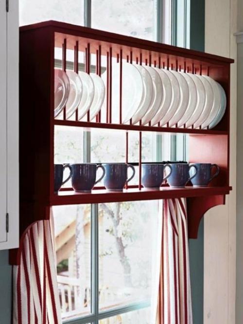 küchenideen schickes regal für teller und tassen