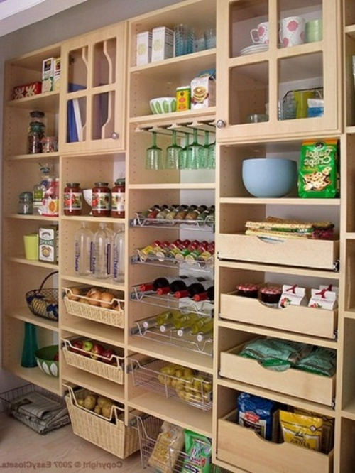 K chenideen 27 schicke beispiele f r die effiziente gestaltung - Space saving movable kitchen island get efficient kitchen traffic ...