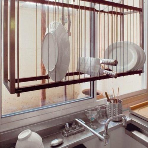küchen ideen schwebendes geschirregal