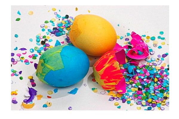 leichte Dekoideen für eine wunderliche Silvesterparty konfetti eier