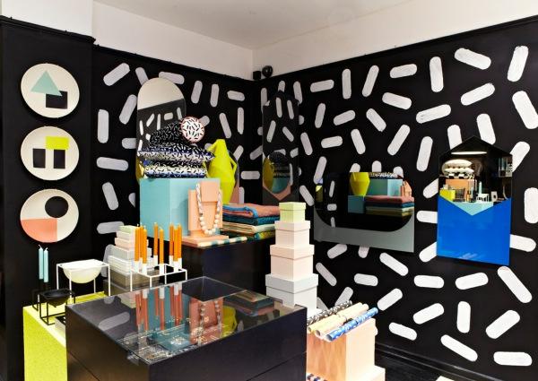 lustige ideen coole inneneinrichtung in bunten farben muster wandgestaltung