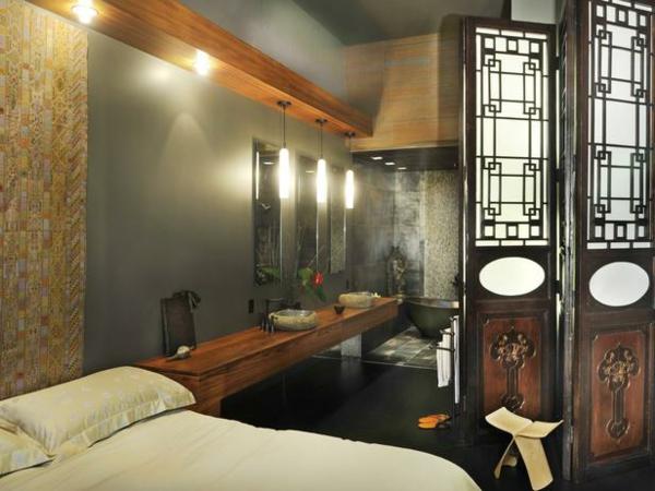 schlafzimmer mit bad ~ verschiedenes interessantes design für ein,