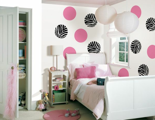 kinderzimmer w nde f r m dchen rosa die neuesten innenarchitekturideen. Black Bedroom Furniture Sets. Home Design Ideas
