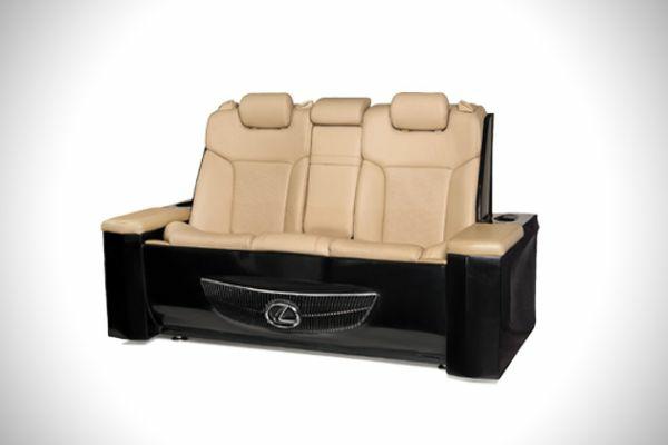 möbel aus autoteilen komfortables sofa