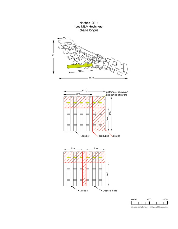 möbel aus europaletten - Skizze für Liege