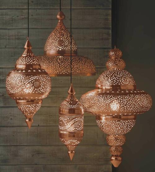 Tapeten Marokkanische Muster : Copper Art Moroccan Pattern