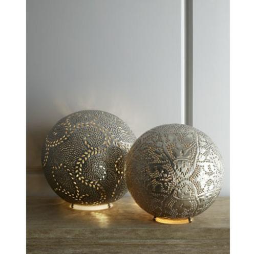 marokkanische muster runde silberne tischlampen