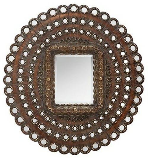 marokkanische muster spiegel mit rosette