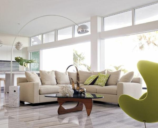 wohnzimmer sofa modern:Wohnideen für zeitlose Möbel von Isamu Noguchi inspiriert