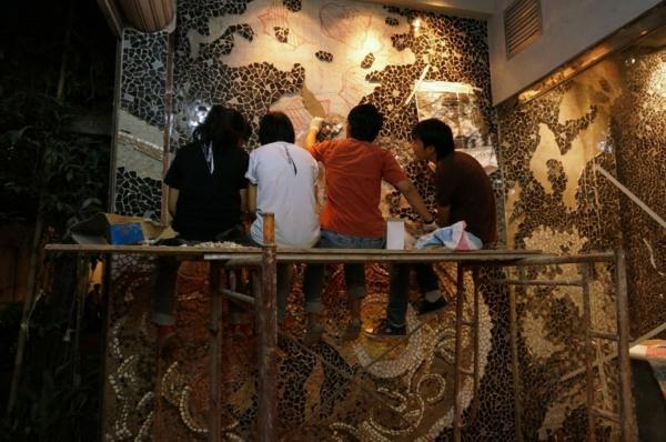 mosaikfliesen designer arbeit entwerfen originell nudelsuppe