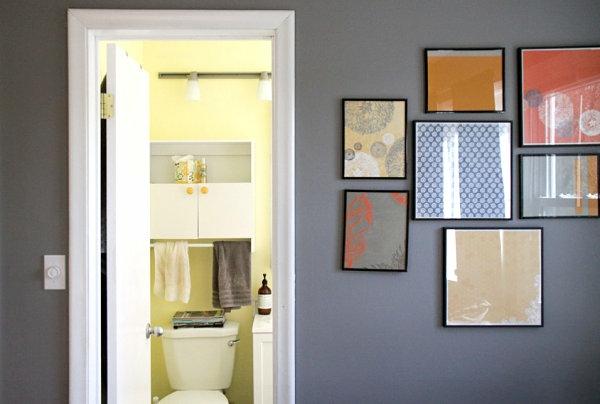 neutrale faben hell farbtöne wandgestaltung dekoration bilderrahmen