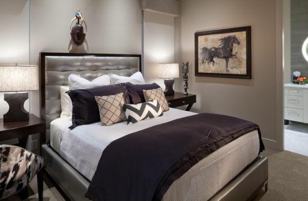 purpurrot silbern großartig kombination schlafzimmer kopfkissen