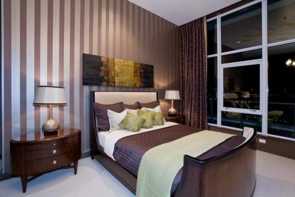 Gestreifte Tapeten Schlafzimmer : 50 coole Betten im Kolonialstil f?r ein gem?tliches Schlafzimmer