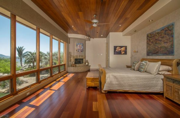 schön schlafzimmer unbehinderte blicke feuerstelle ecke