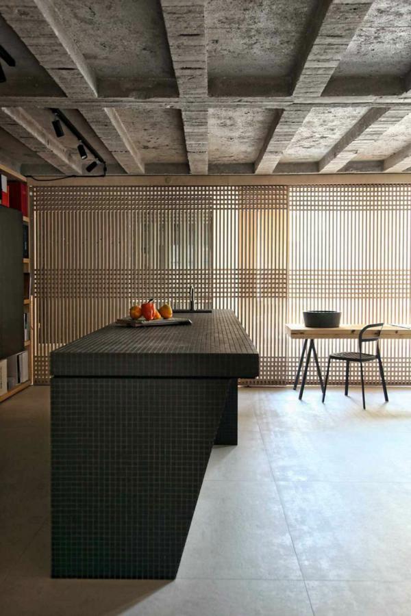 Schickes Loft Und Design Studio Küche Industriell Schick Betondecke