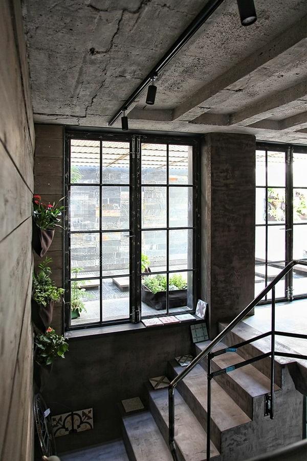 schickes loft und design studio in einem kombiniert. Black Bedroom Furniture Sets. Home Design Ideas