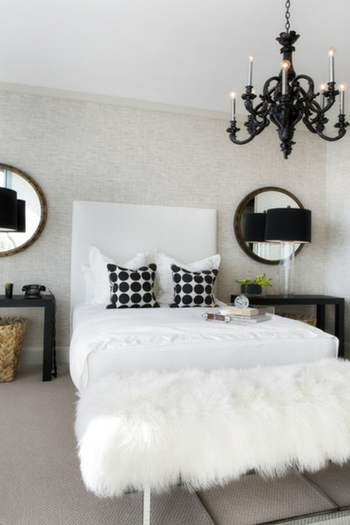 schlafzimmer fell bettbank in weiß