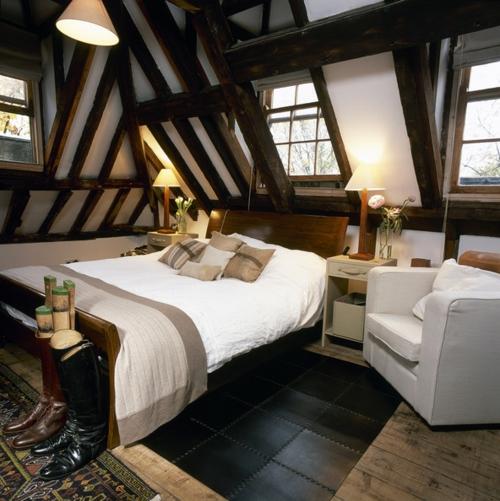 schlafzimmer gestalten berghütten flair