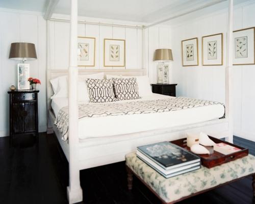 schlafzimmer kissen und bettdecke mit verwobenen mustern