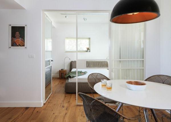 schlafzimmer modern tel aviv esszimmer weiß oval esstisch hängelampe