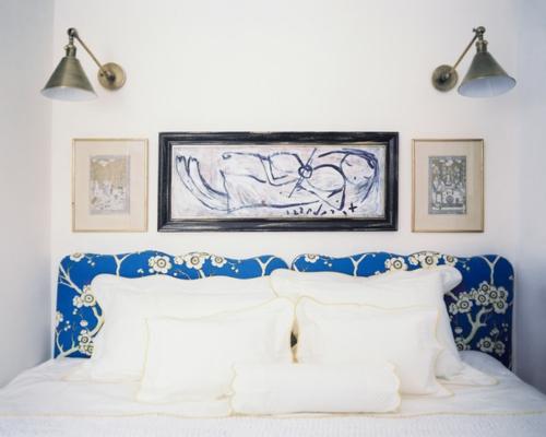 schlafzimmer wandkunst und wandleuchten im industriestil