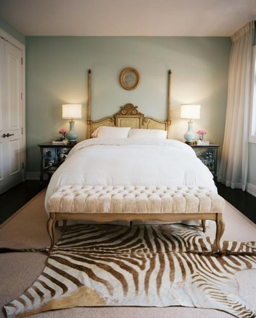 Schlafzimmer Zebra Fellteppcih