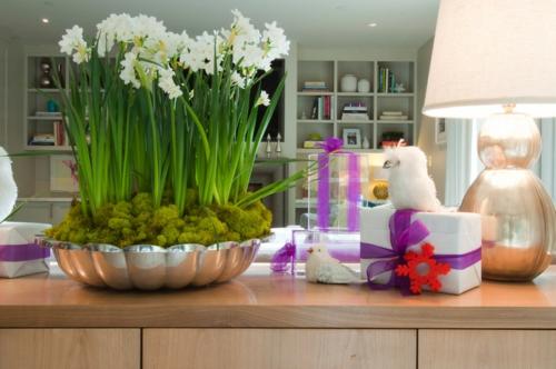 sparsame Dekoideen für die Feiertage modernes wohnzimmer
