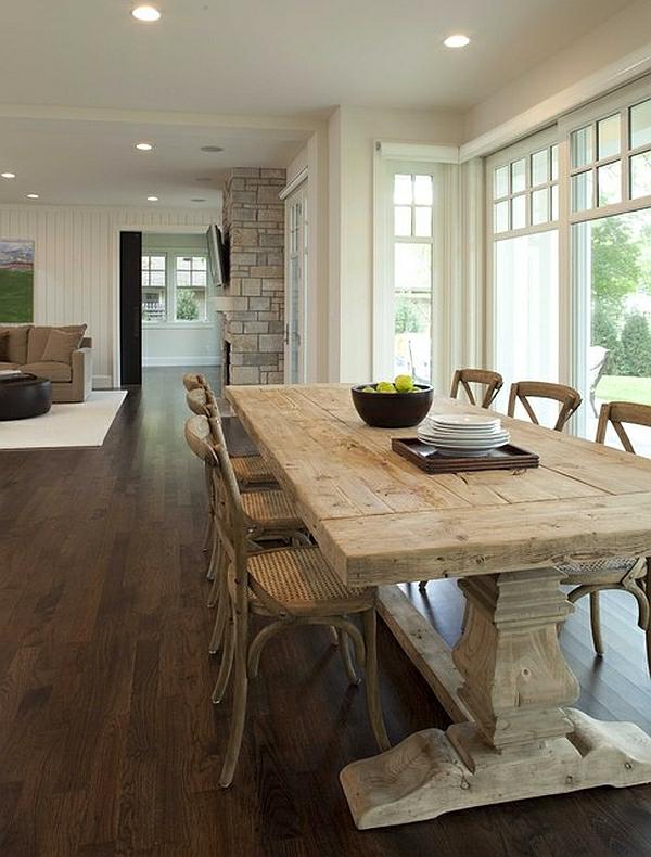 Speisezimmer 10 stilvolle interieurs mit klasse for Esstisch naturholzplatte
