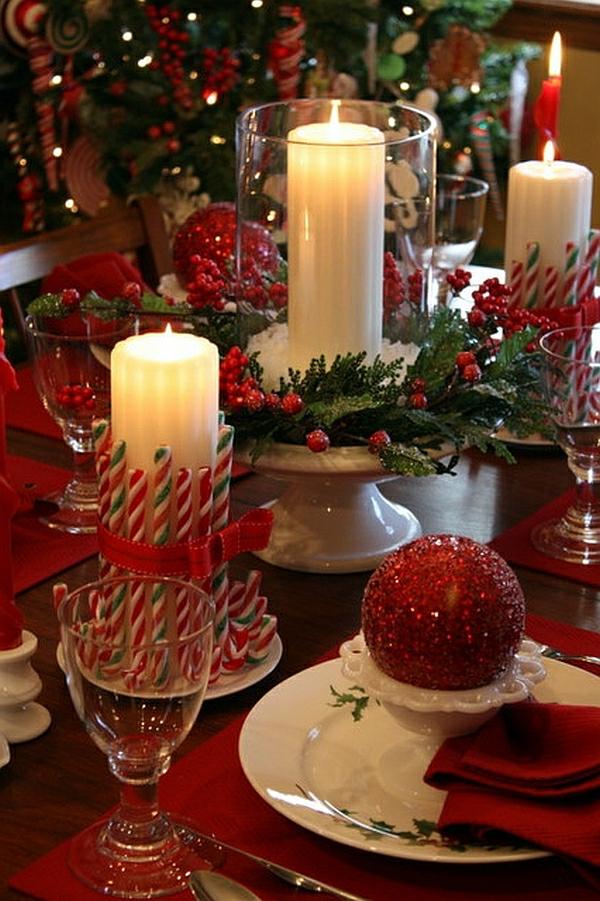 speisezimmer weihnachtliche tischdeko
