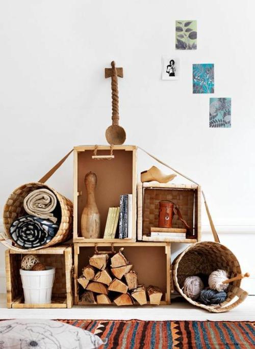 Stauraum ideen im wohnzimmer 30 pfiffige einrichtungen Wohnung dekorieren fasching