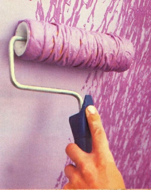 wanddekoration gestaltung lack farbe effekt