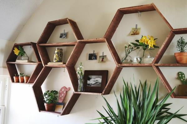 Wandregal in wabenform eine coole diy idee f r ihr zuhause for Pflanzen wandhalter