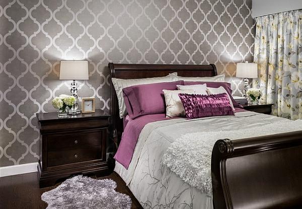 Wandtapete 10 schicke ideen die ihren raum funkeln lassen for Wandtapete schlafzimmer