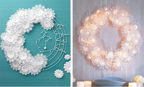 Christmas craft ideas with paper doilies : Weihnachtsbasteln gro?artige dekoideen zum selbermachen