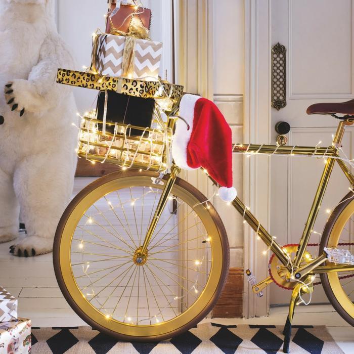 weihnachtsdekoration weihnachtsschmuck weihnachtsdeko fahrrad als weihnachtsbaum