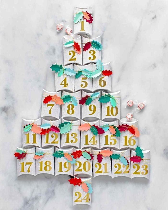 weihnachtsdekoration weihnachtsschmuck weihnachtsdeko leiter als weihnachtsbaum adventskalender