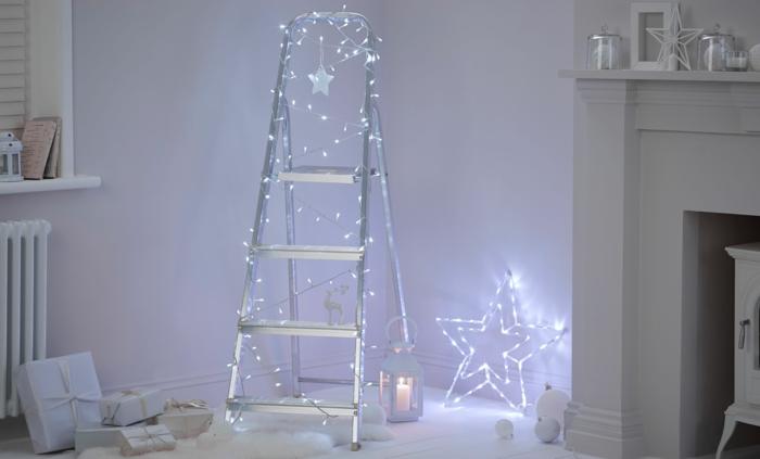 weihnachtsdekoration weihnachtsschmuck weihnachtsdeko leiter als weihnachtsbaum