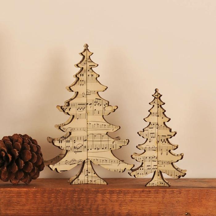 weihnachtsdekoration weihnachtsschmuck weihnachtsdeko notenpapier