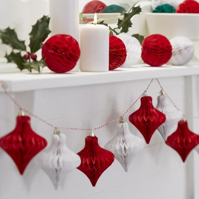 weihnachtsdekoration weihnachtsschmuck weihnachtsdeko rot weiss