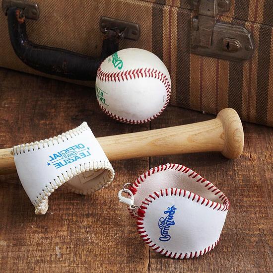 weihnachtsgeschenke basteln baseballmanschetten
