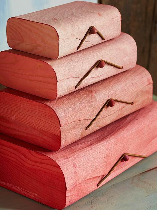 weihnachtsgeschenke basteln gefärbte aufbewahrungsboxen