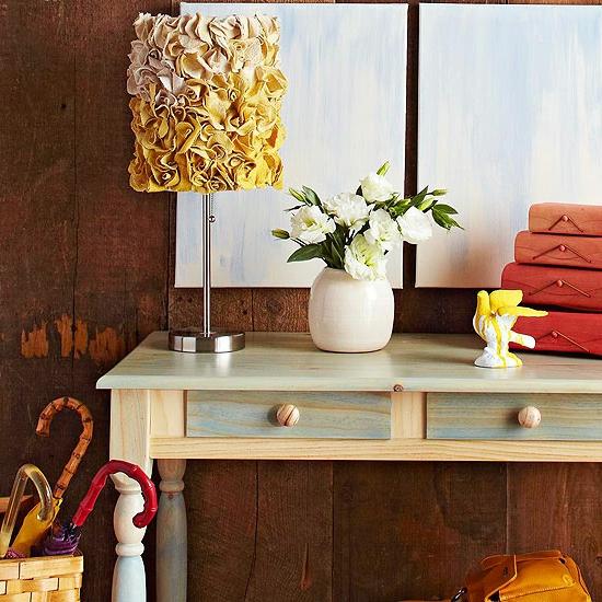 weihnachtsgeschenke basteln lampenschirm aus stoffblumen