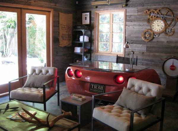 wohnzimmer autoteile tischplatte homeoffice
