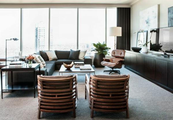 Luxus Wohnzimmer Einrichten - 70 Moderne Einrichtungsideen Sessel Wohnzimmer Design
