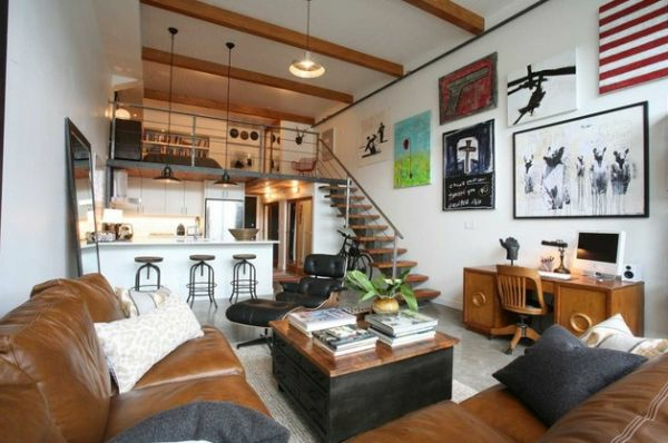wohnzimmer farben texturen männlich design hellbraun leder