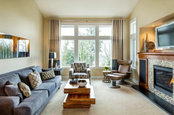 wohnzimmer farben graue couch:Luxus Wohnzimmer einrichten – 70 ...