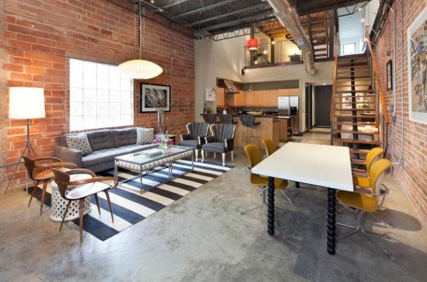 Wohnzimmer Farben Texturen Streifen Bodenlufer Schwarz Weiss