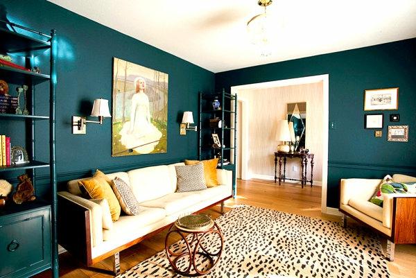 wohnzimmer tiermuster teppich weich sofa kissne dekorativ farben