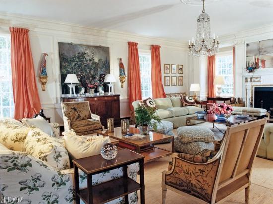 wohnzimmer tory burch designer mode bluimen farben texturen