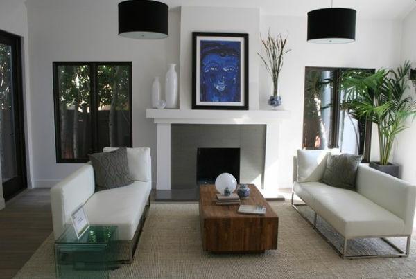 wohnzimmer weiß sitzbank auflagen